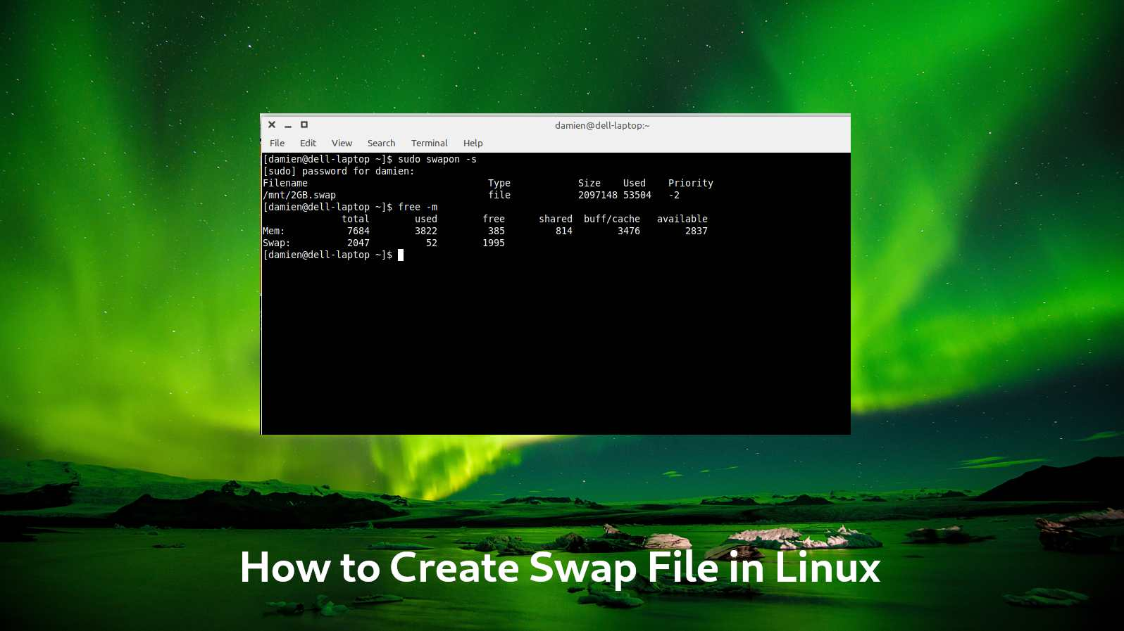 Create Swap File Linux Featured