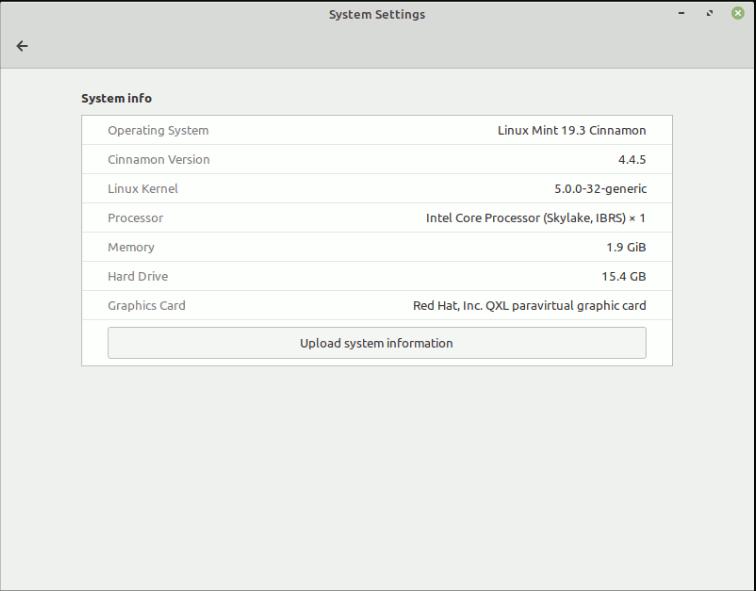 Linuxmint System Info
