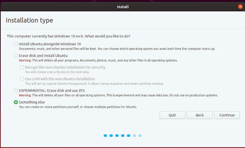 Windows Install Ubuntu Partition