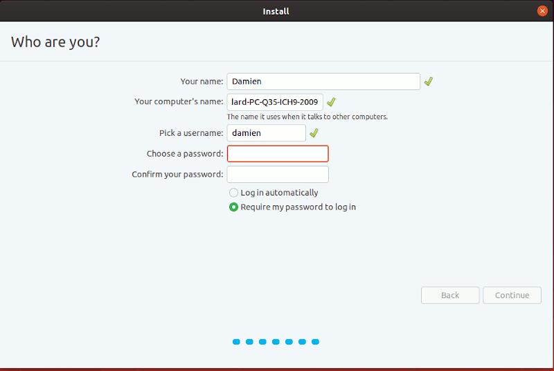 Windows Install Ubuntu Username