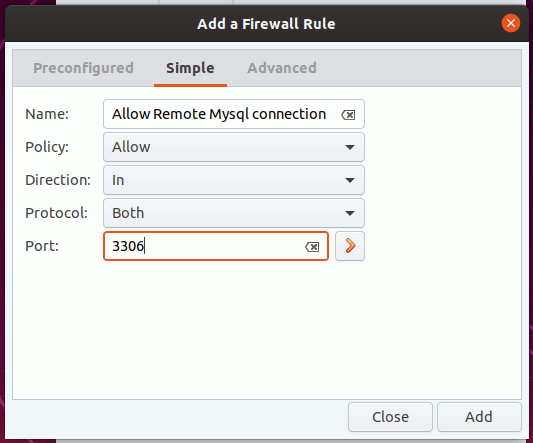 Gufw Firewall Simple Rules