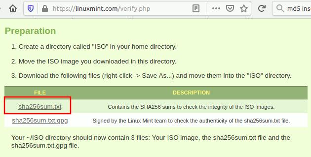 Liuxmint Download Checksum File