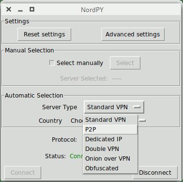 Nordpy Server Type